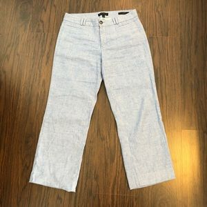 Banana republic pants linen blend Logan crop sz 4
